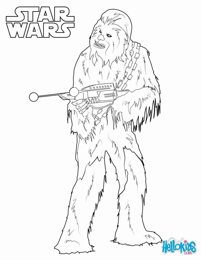 Star Wars Coloring Page Best Of Chewbacca Coloring Pages Hellokids Star Wars Drawings Star Coloring Pages Coloring Pages