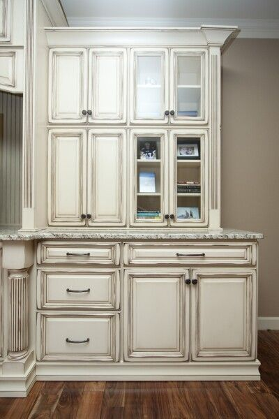 Vanillla With Chocolate Built In Wall Units Cabinetry Quality Kitchen Cabinets
