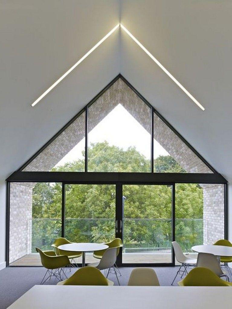 63 Awesome Modern Led Strip Ceiling Light Design Ceiling Light Design Roof Design Roof Architecture