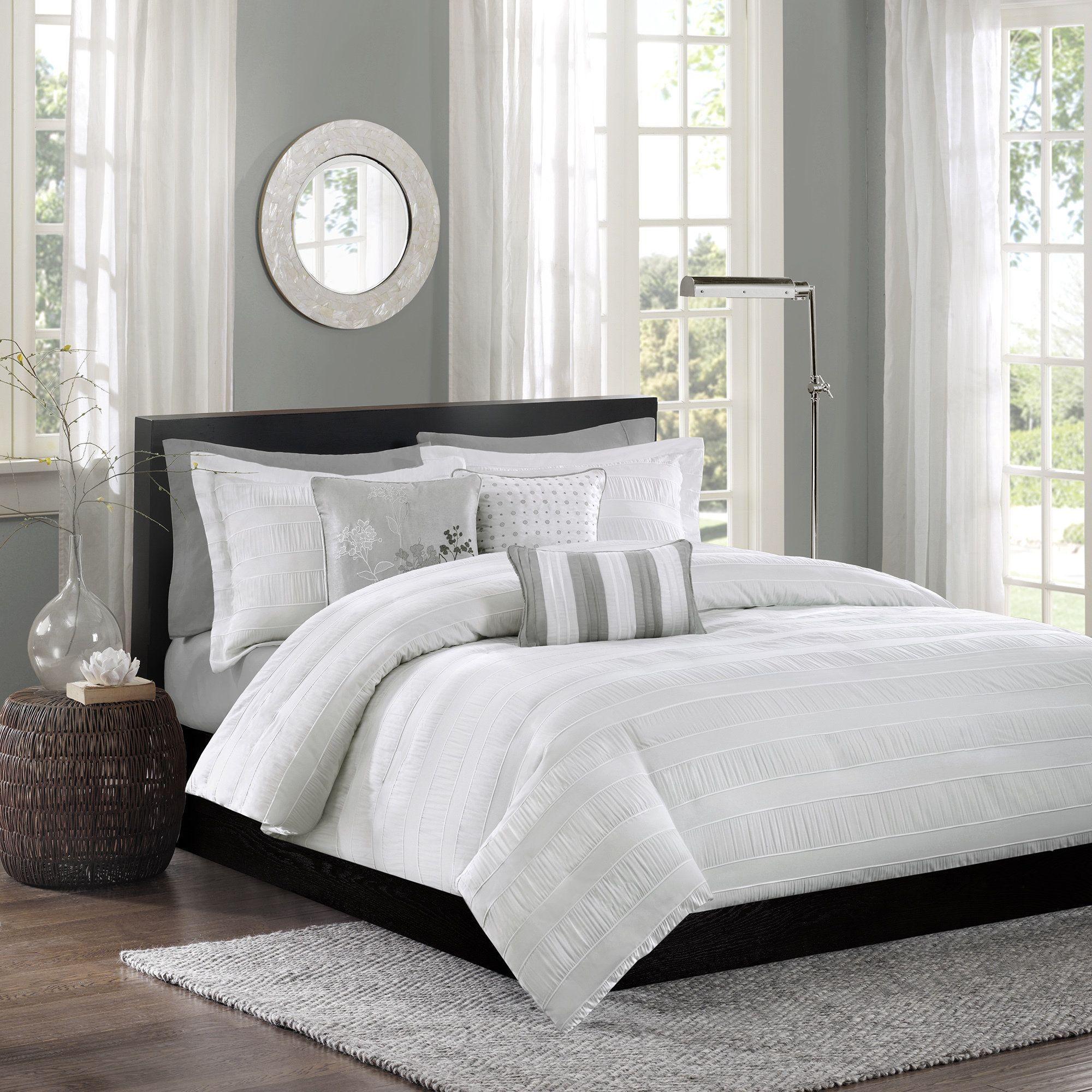 duvet set white cotton piece paisley cover tara park madison covers grey