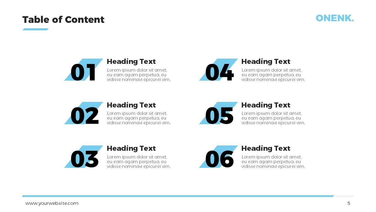 Simple Table Of Contents Powerpoint Template Slide1 In 2021 Powerpoint Templates Powerpoint Simple Table