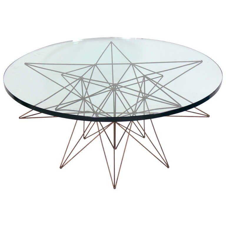 Sculptural Metal Coffee Table Base Attributed To Rene Brancusi