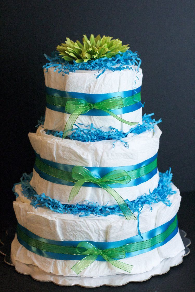 DIY Diaper Cake Tutorial Diy diaper cake, Diaper cakes