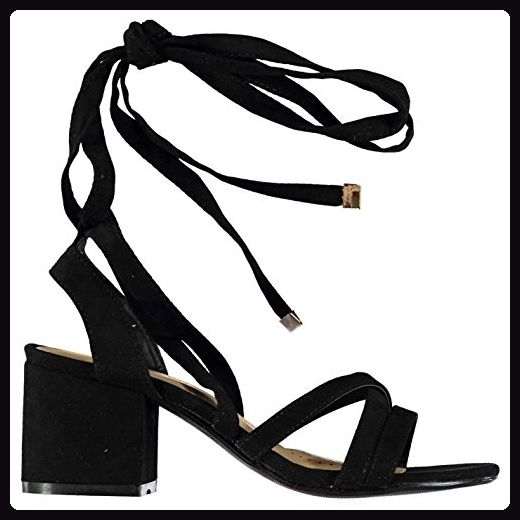 Damen Sandalette, schwarz, 42