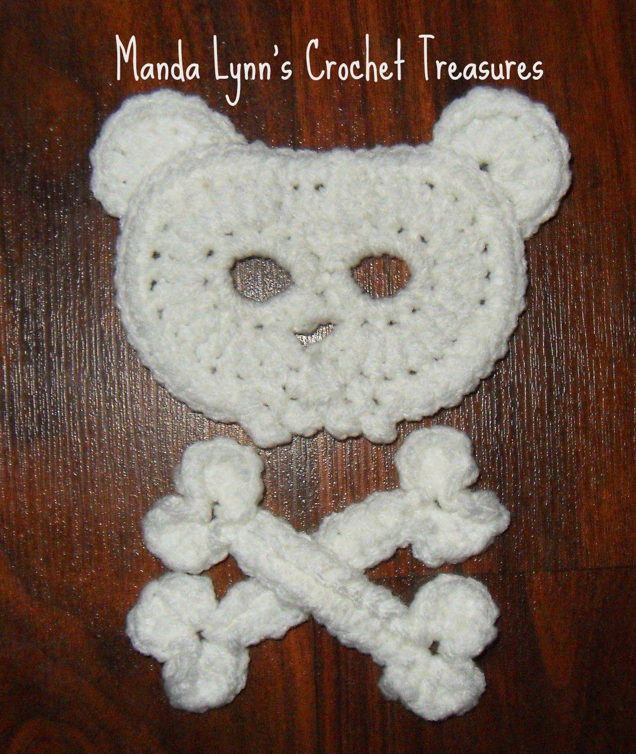 MandaLynn\'s Crochet Treasures : Bear Skull n Bones Applique ...