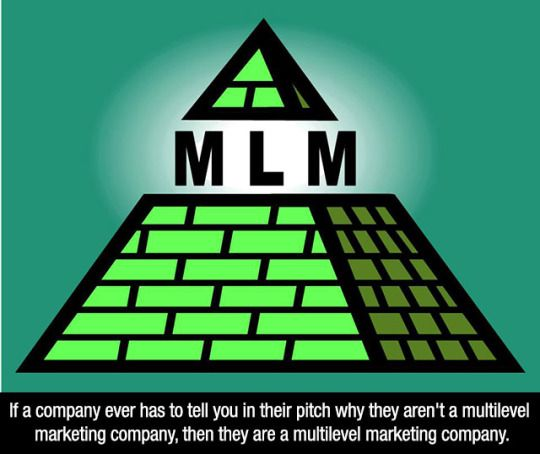 Just say NO! to MLMs   MLM   Multi level marketing, Small