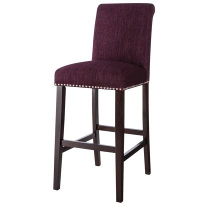 30 Quot Avington Bar Stool With Nailheads Eggplant Our