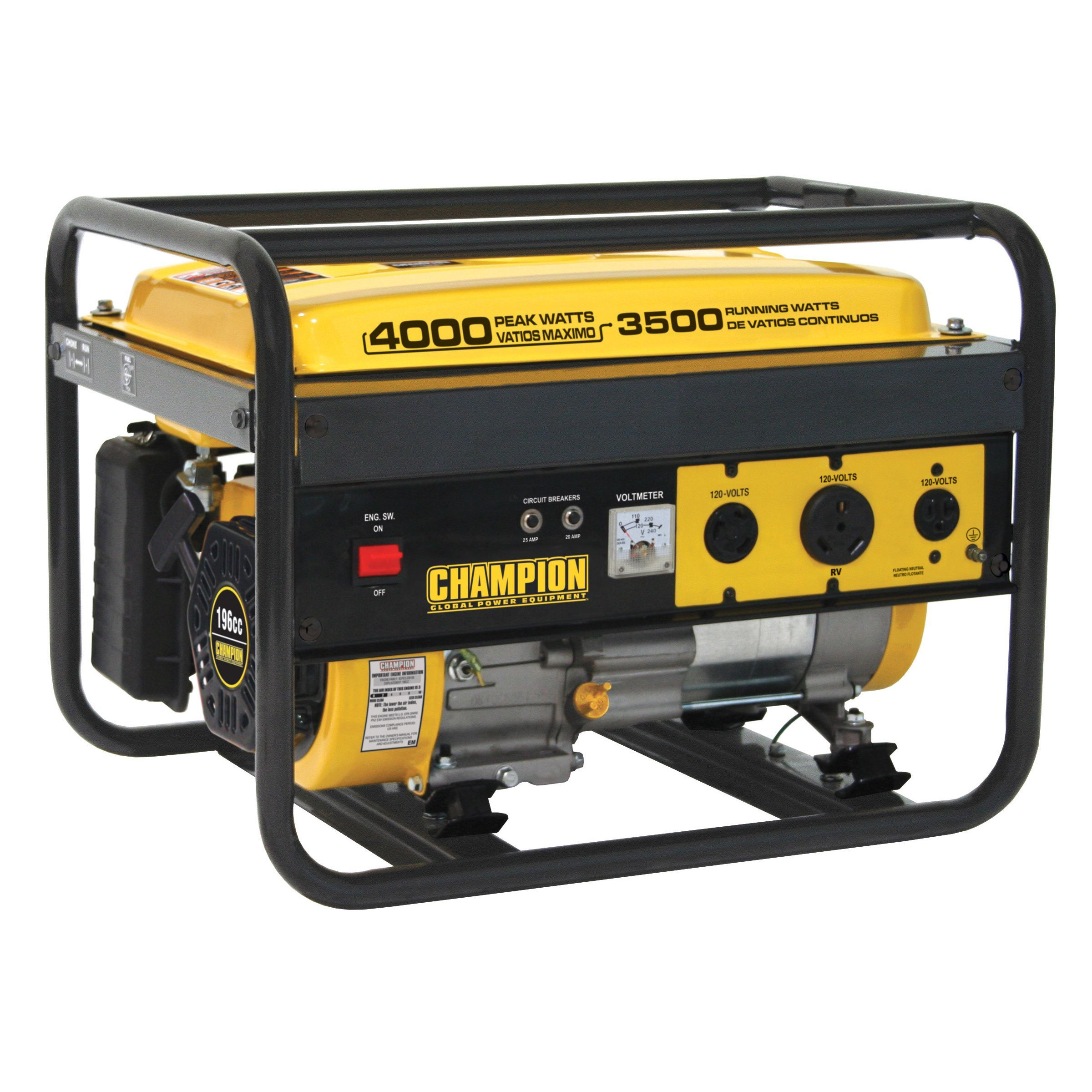 champion power equipment 46533 4000 watt rv outlet portable