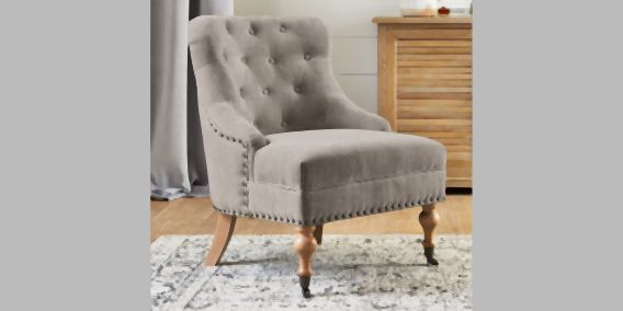 Buy Esme Chair 1 Seat Sumptuous Velour Mid Silver Antique Wash