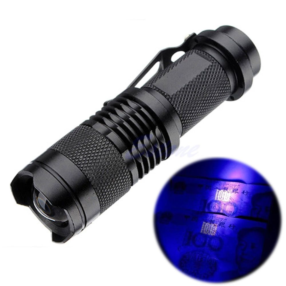 Zoomable-led UV Taschenlampe Licht 395nm Ultra Violet Licht Uv ...