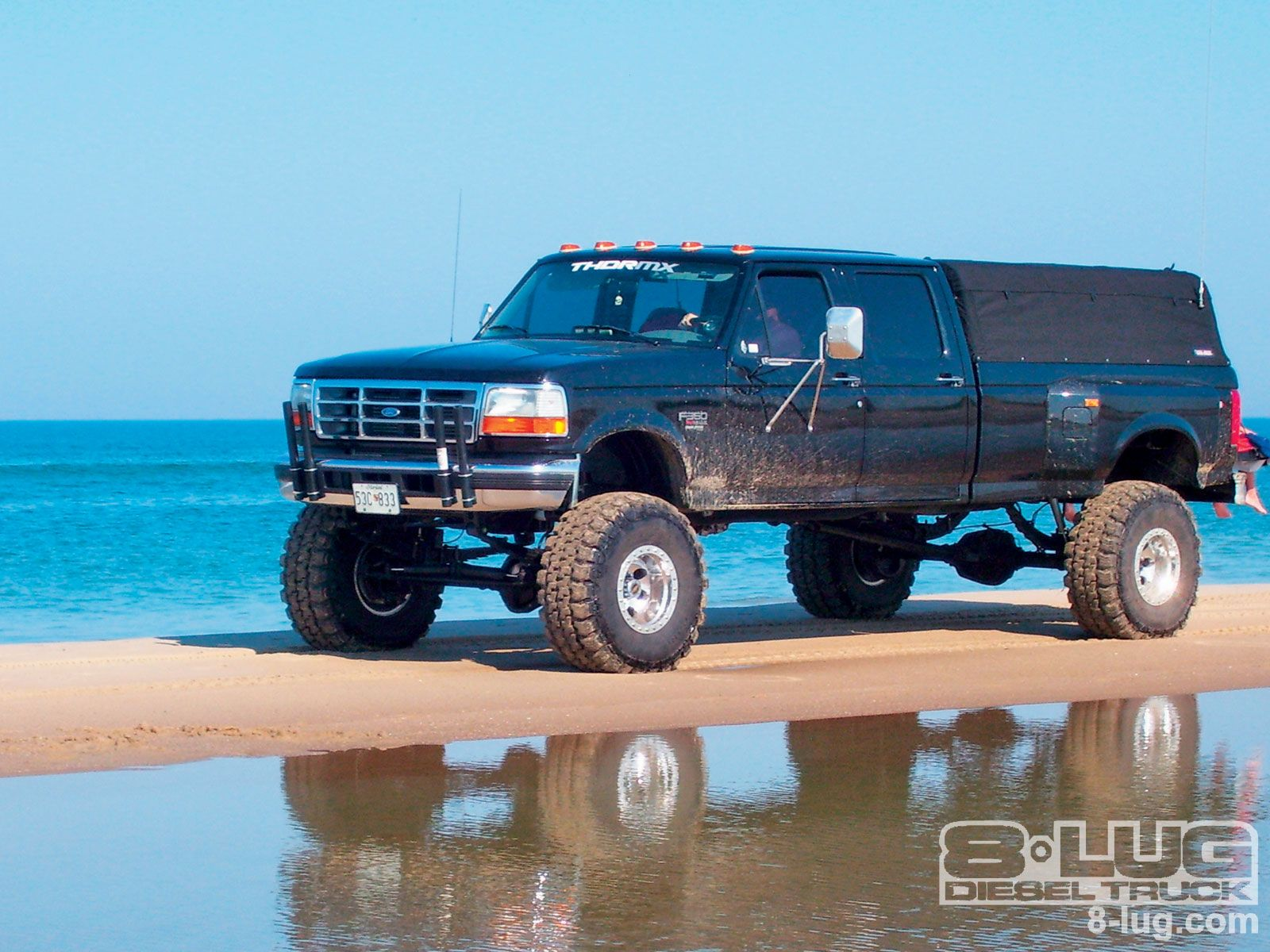 1995 ford f350 left side angle photo 1