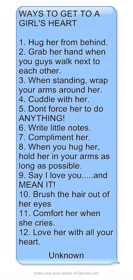 cute things to get a girl to like you