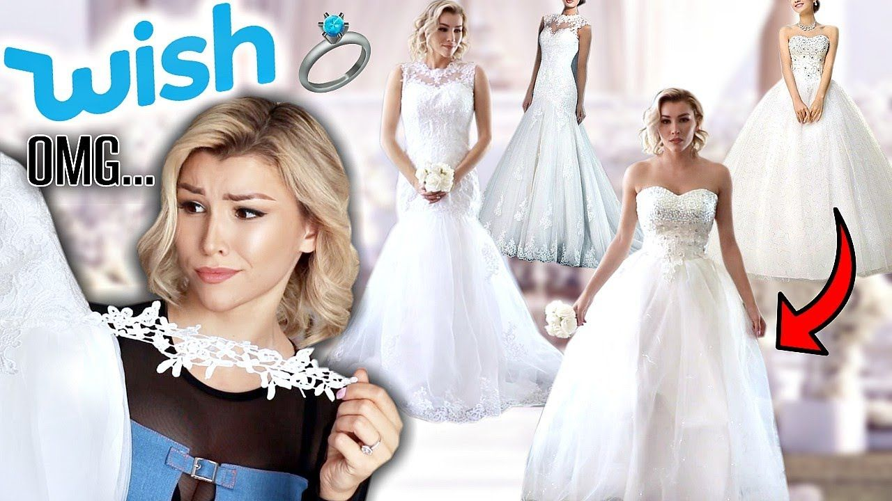 Trying On Wedding Dresses From Wish Wedding Dresses Wedding Dresses Videos Wedding