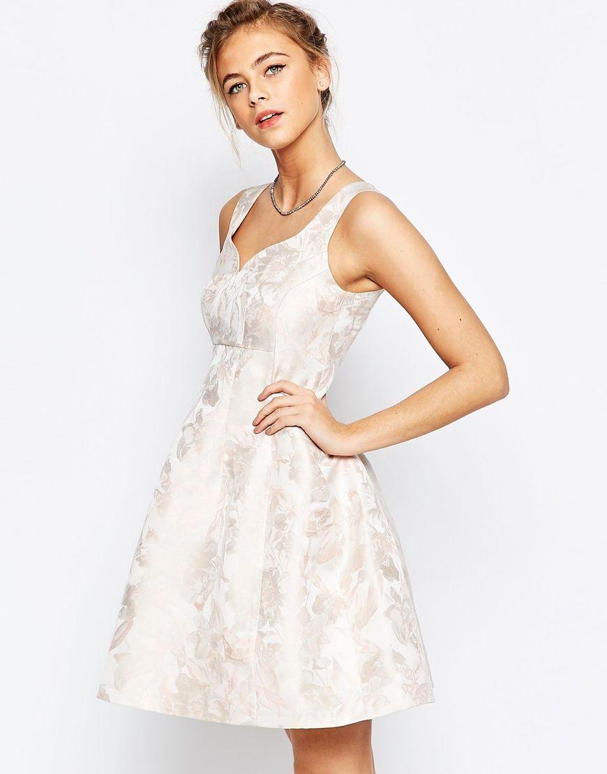 Coast Bridget Jacquard Fit n Flare Dress in Pink | Jane\'s Wedding ...
