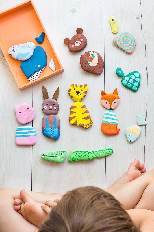 Photo of Pintar piedras – dulce idea de juego para niños #stone painting niños pintar piedras …