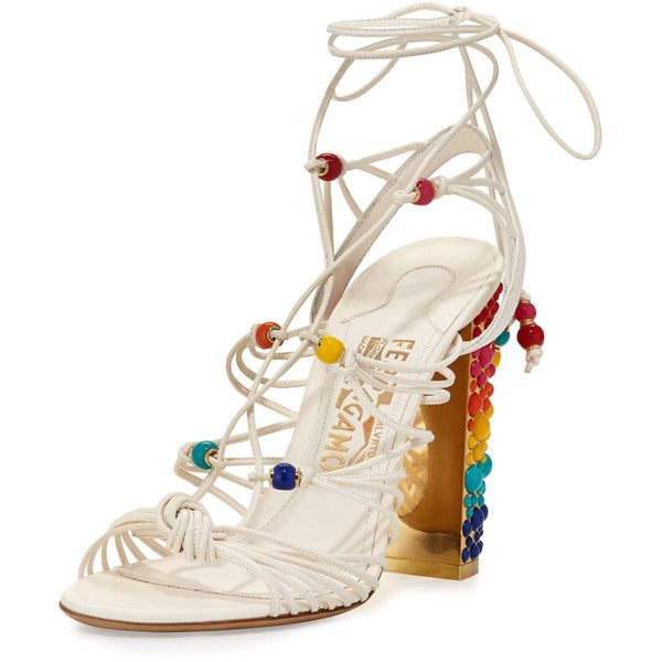 ab2093ad07c8 Edgardo Osorio For Ferragamo Rainbow-Studded Leather Gladiator Sandal  ( 1