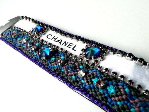 Purple and Blue Repurposed Chanel Ribbon by GlimpseCreations, $90.00