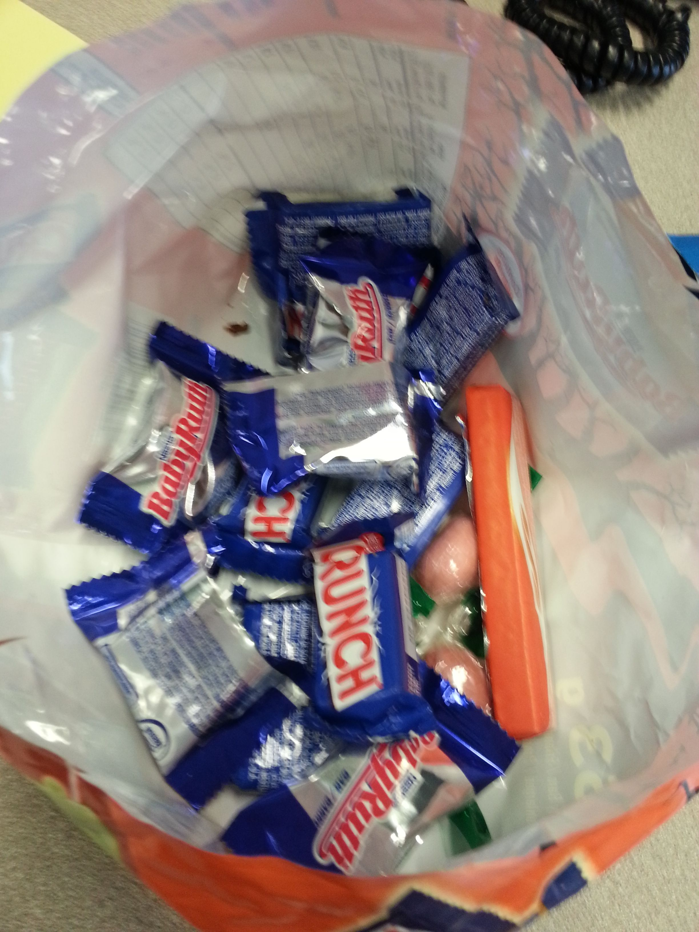 2014-11-05: Halloween Candy - Freebie from Co-workers. Never hurts to ask.