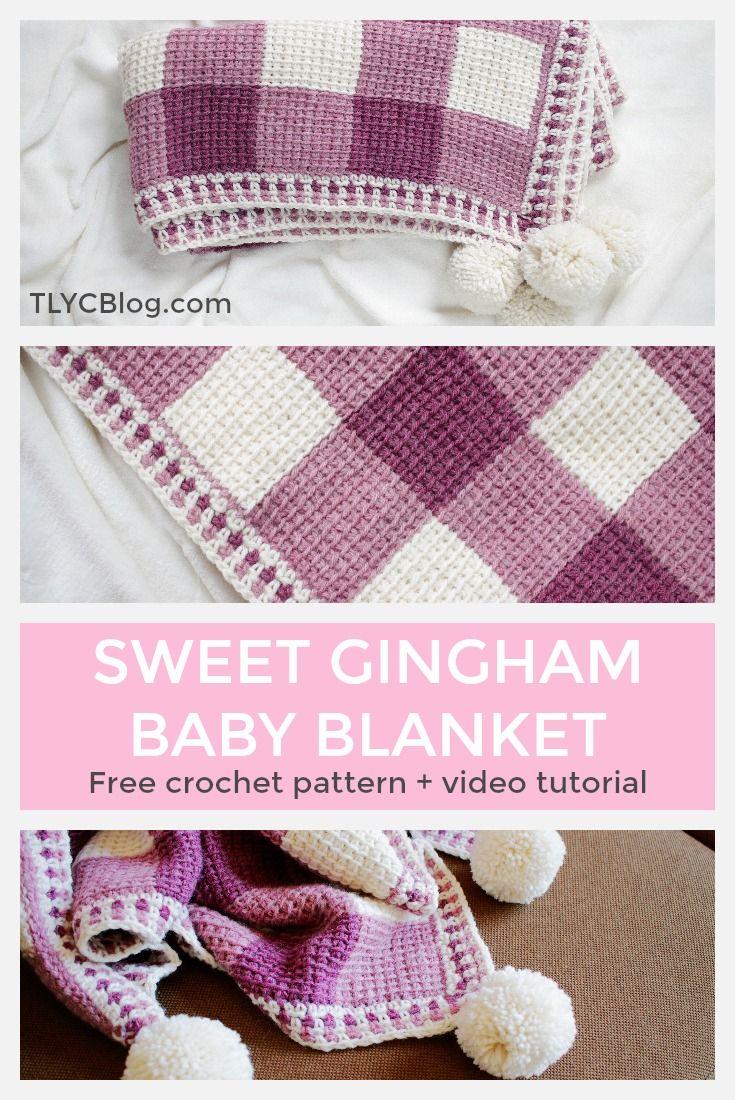 The Sweet Gingham Baby Blanket From To Make Pinterest Haken