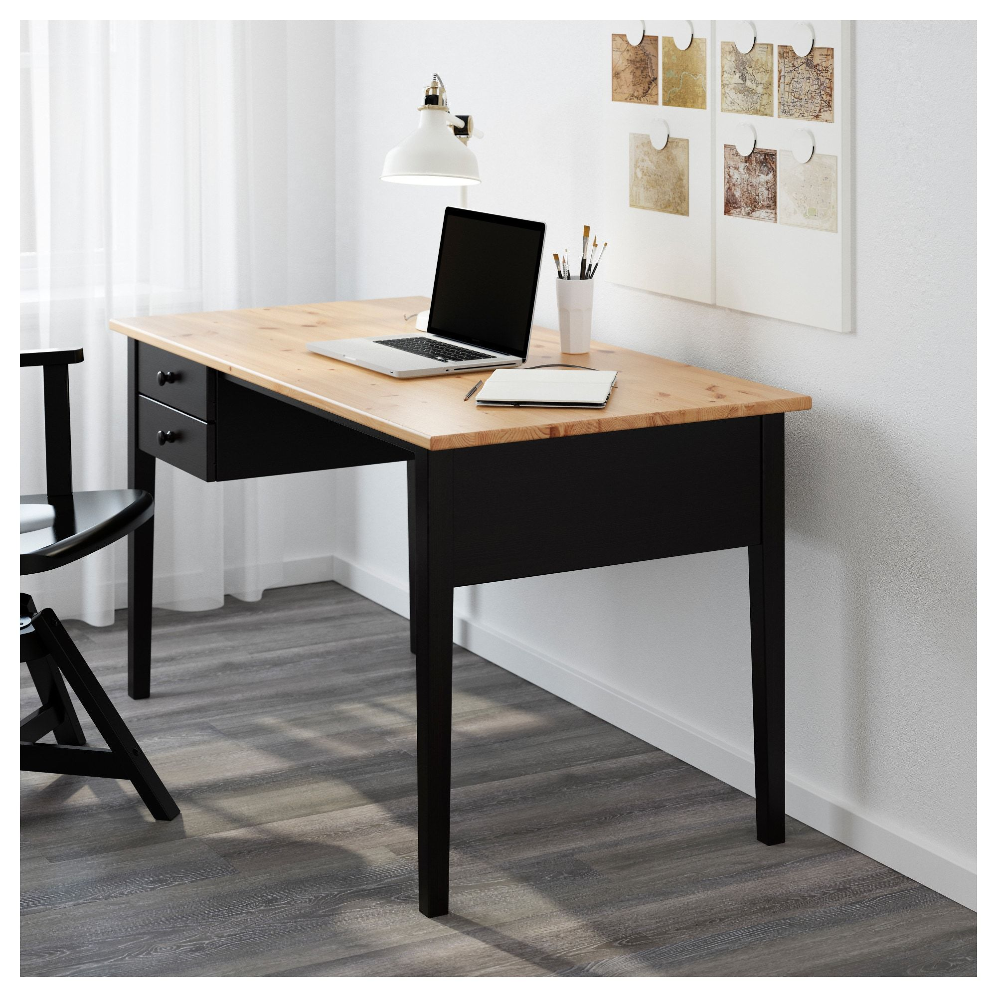 Arkelstorp Bureau Zwart 140x70 Cm Ikea Black Desk Home Office Design Ikea Desk