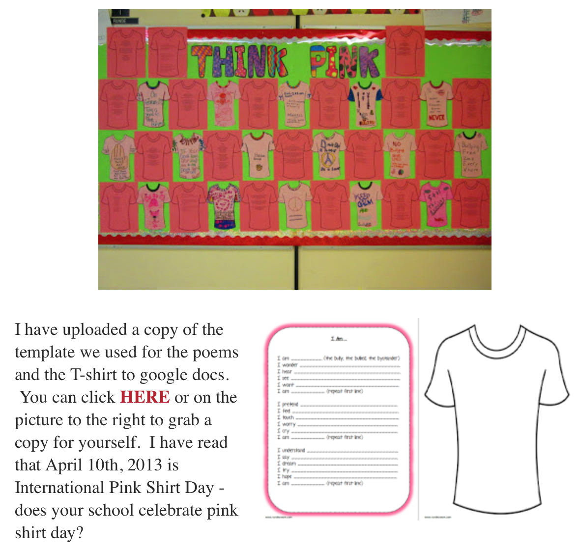 Think Pink National Pink Shirt Day