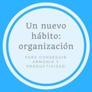 Un nuevo hábito: la organización