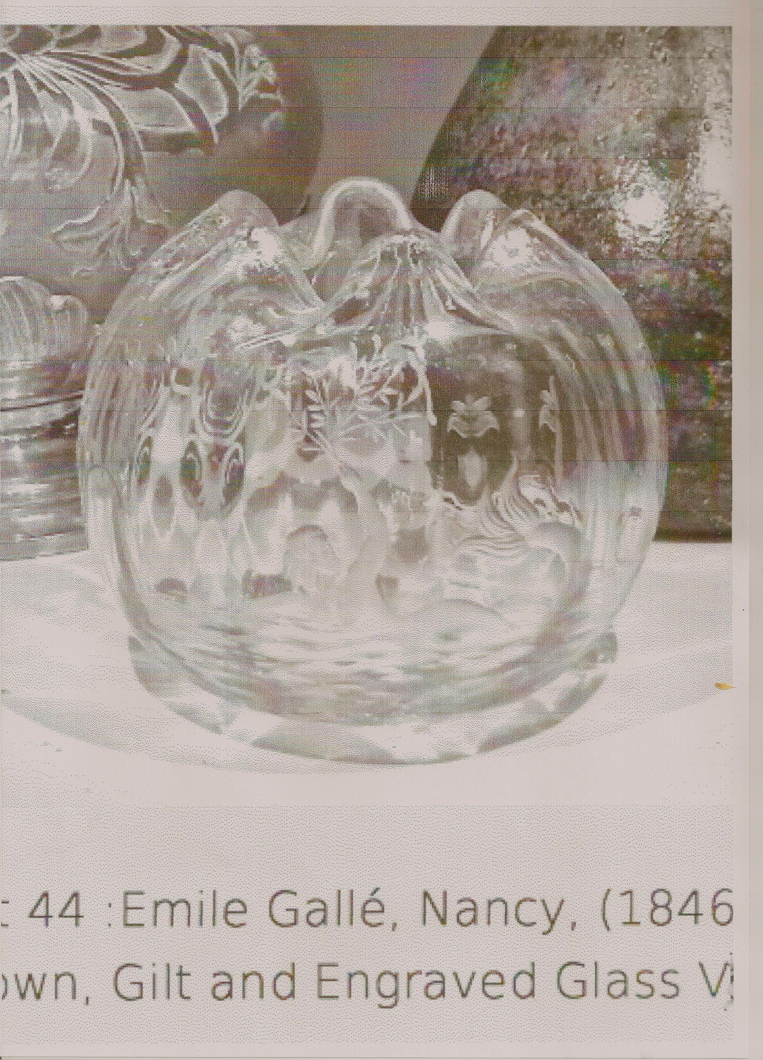 Emile Gallé , wheel engraved vase, circa 1890