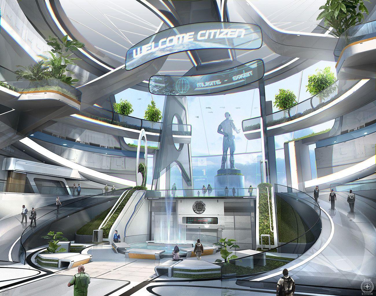 pin by yi mu on pinterest sci fi futuristic and future city. Black Bedroom Furniture Sets. Home Design Ideas