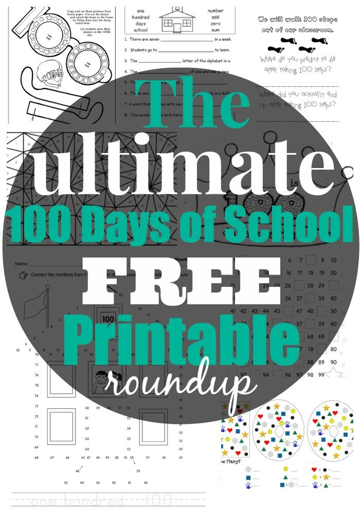 Best Free 100th Day of School Printable Activities and Worksheets | Kind