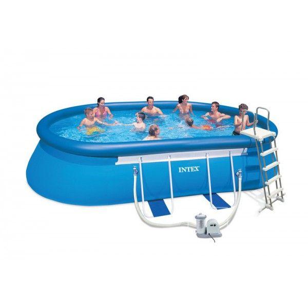 kit piscine autoportante ellipse intex x x m conseils piscine gonflable