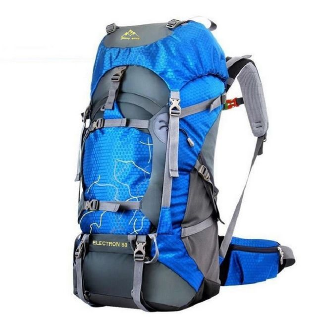 FengTu 60L Hiking Backpack Daypack For Men And Women Nylon Waterproof  Camping Traveling Backpack Outdoor Climbing Sports Bag 4a993f762019b