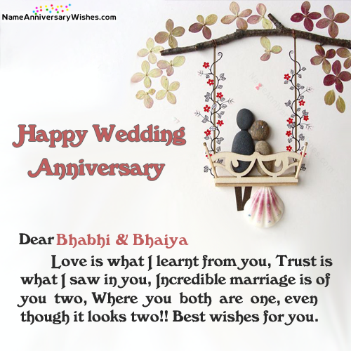 Anniversary Wishes For Brother And Bhabhi Quotes: Get Here Happy Anniversary Bhaiya And Bhabhi Images In