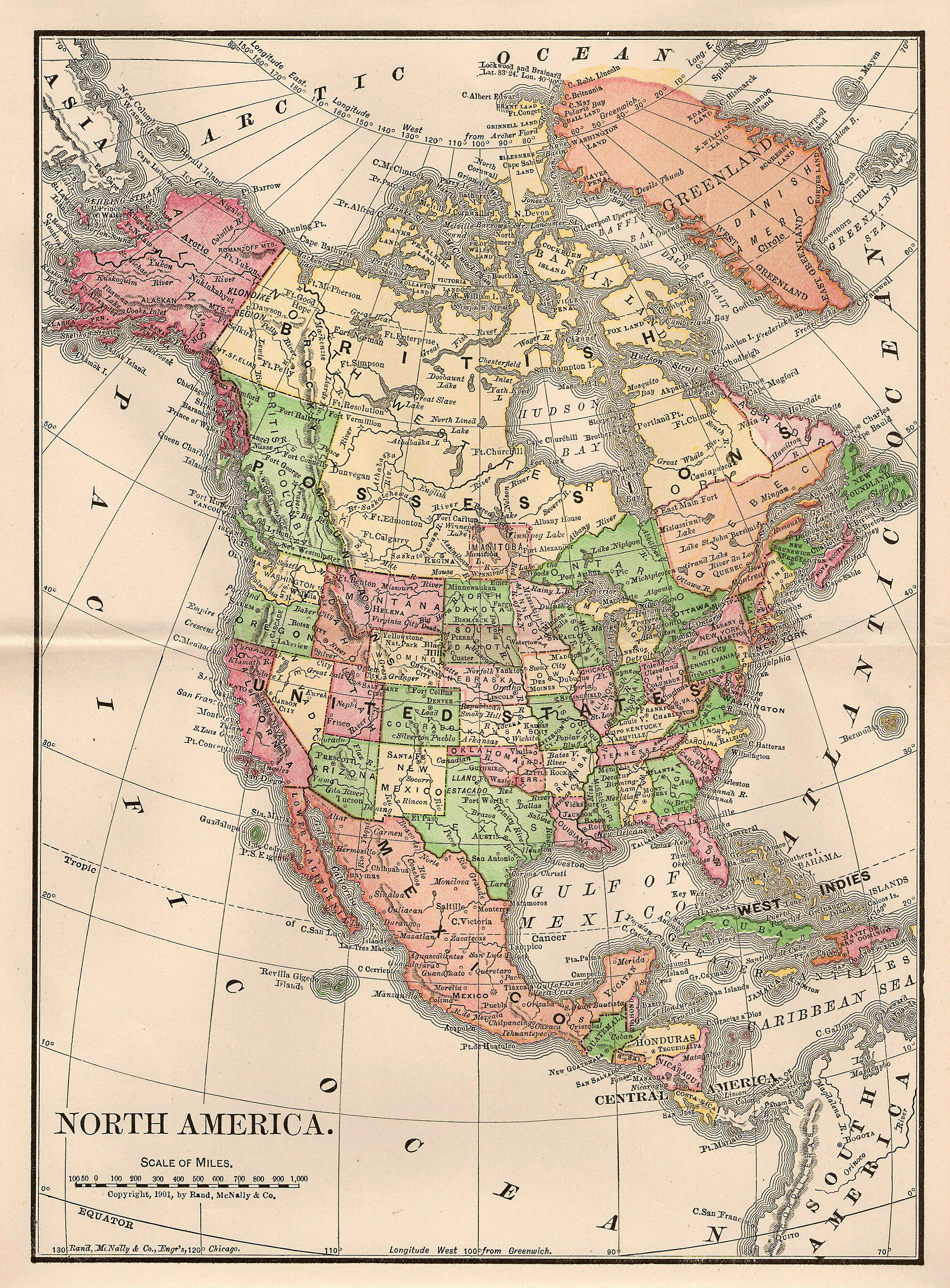 Free North America Map.Catnipstudiocollage Free Vintage Clip Art Map Of North America