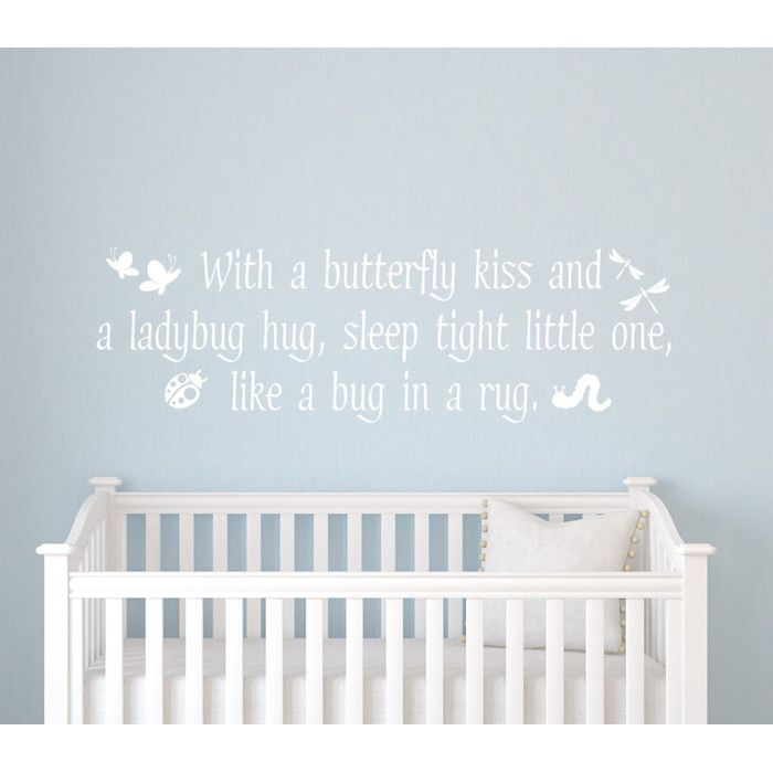 Butterfly Kisses Wall Decal In 2021 Baby Wall Decals Kids Wall Decals Nursery Wall Decals