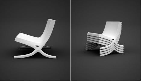 Barcelona Chair Inspired Garden Chairs