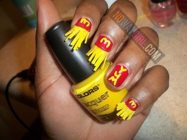 Ghetto McDonalds French Fries Nail Design - NoWayGirl - Ghetto McDonalds French Fries Nail Design - NoWayGirl Humor