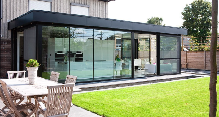 Serre modern google zoeken erker pinterest modern - Veranda modern huis ...