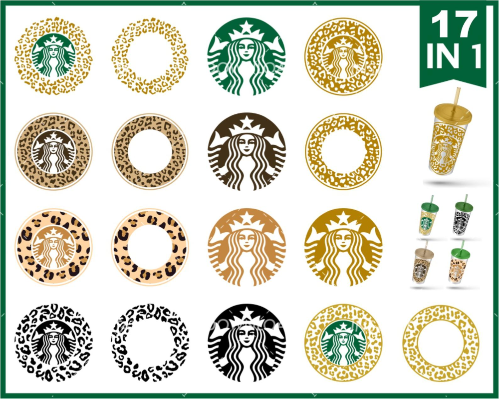 17 Bundle Animal Skin Sturbucks Svg Starbucks Logo Etsy