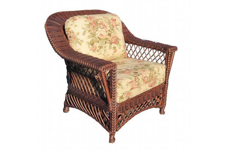 Bar Harbor Wicker Arm Chair In Brown Armchair Furniture Wicker Furniture