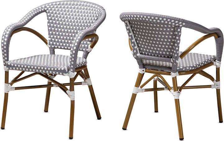 Design Studios Set Of 2 Eliane Indoor Outdoor Bistro Dining