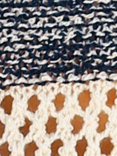 46ae3132991 Jersey mujer de rayas en punto calado de fantasía | jerseys | Puntos ...