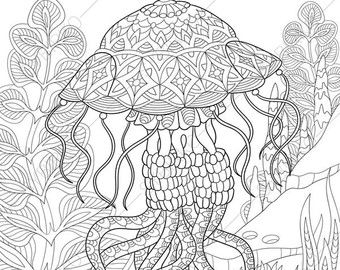Adult Coloring Pages Butterflyfish Zentangle Doodle Coloring Pages For Adults Digital