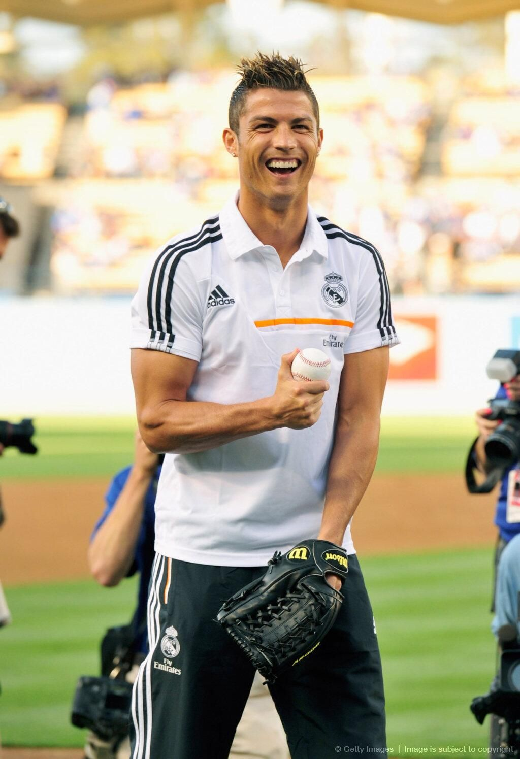 Cristiano at the Dodgers stadium - Real Madrid 2013