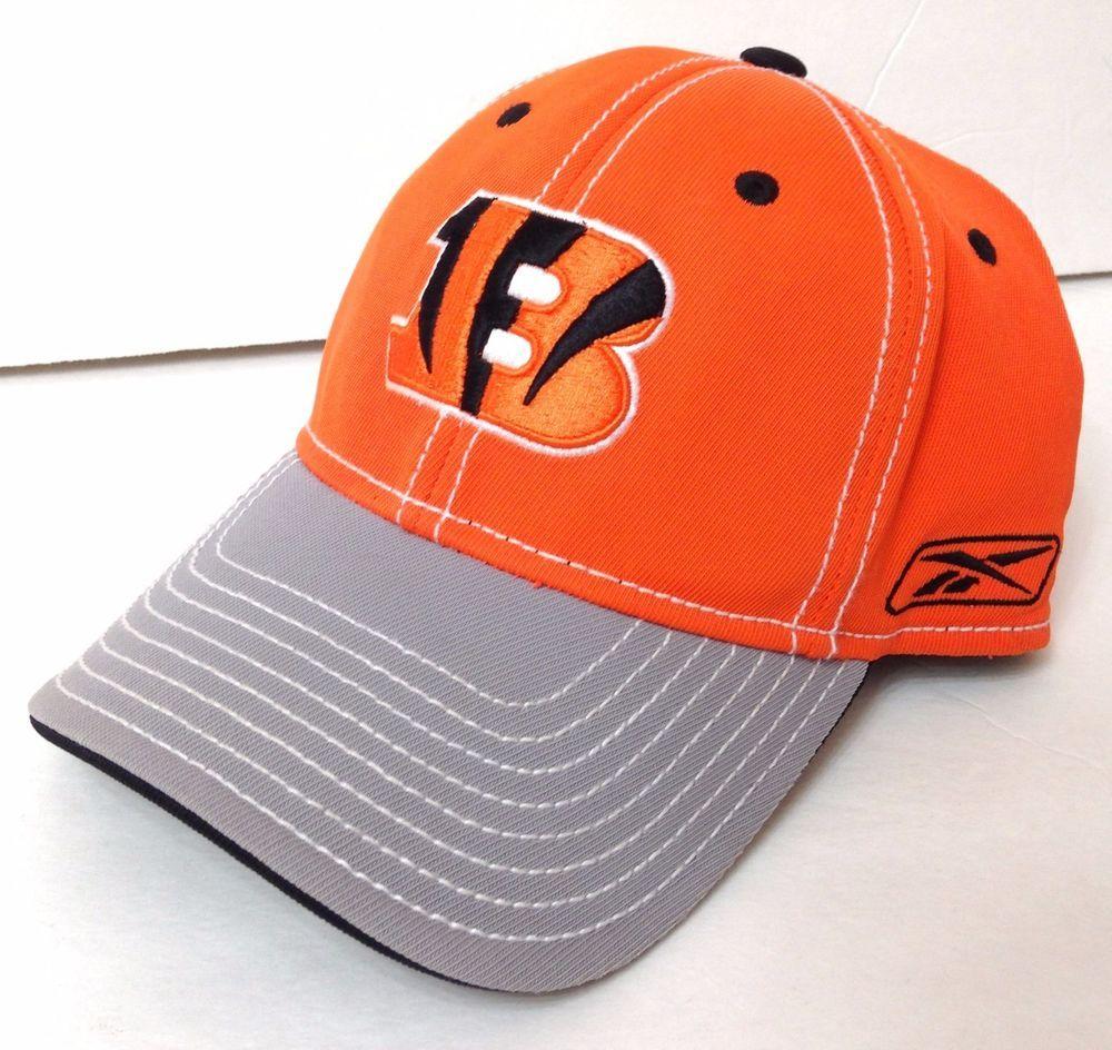 a1daddb83 (flex 7-1 8 1 4 3 8) CINCINNATI BENGALS HAT Orange Gray Letter B Logo Men  Women  Reebok  CincinnatiBengals
