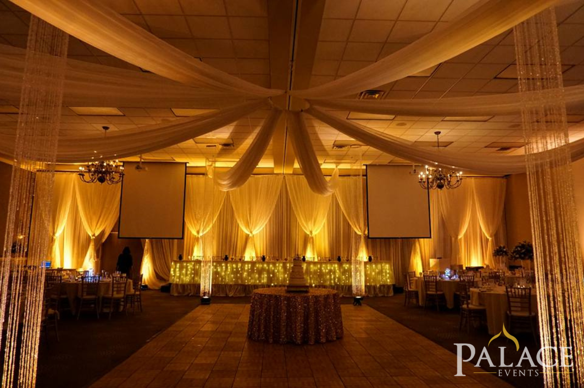 Gold Wedding Inspiration With Rental Products Provided By Palace