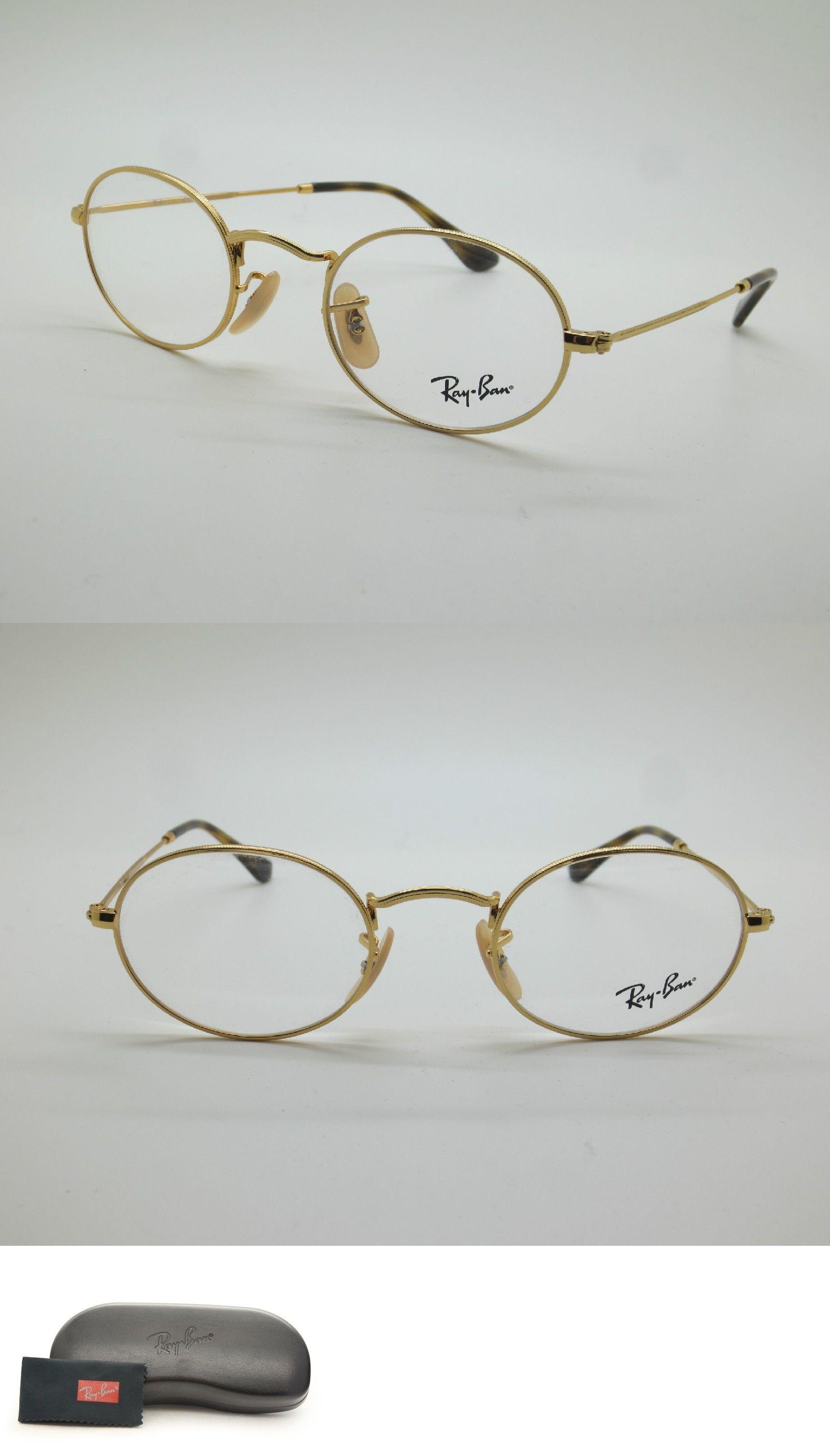 edb93e3dc95f6 ... switzerland fashion eyewear clear glasses 179244 ray ban rb3547v 2500  gold oval 46mm rx eyeglass d9ecf