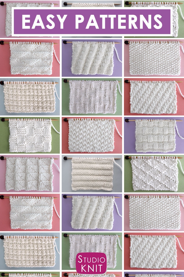 Stitch Patterns for Knitted Scarves #scarves