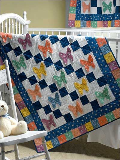 Free Sewing Pattern of the Day Butterflies Crib Quilt | Butterfly ... : butterfly baby quilt pattern - Adamdwight.com