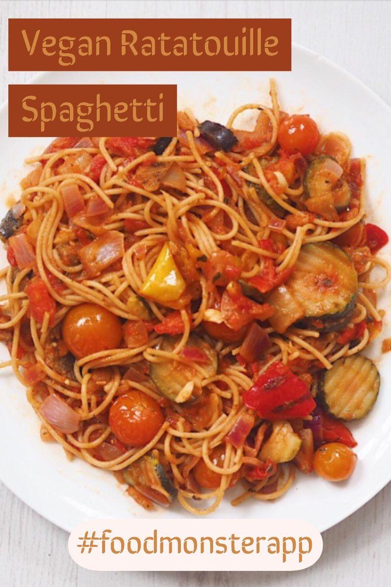 Ratatouille Spaghetti Vegan In 2019 Vegan Dinner Recipes