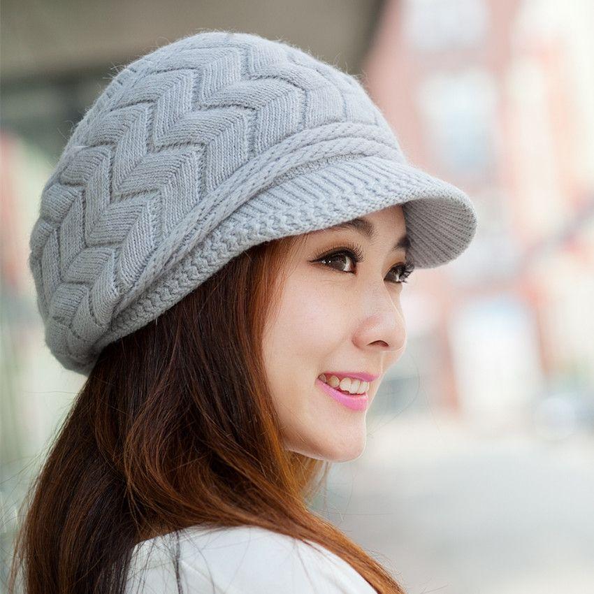 036bd460eb9 Free shipping lady Korean winter day angora wool cap knitted cap child bunk  warm winter hat tide
